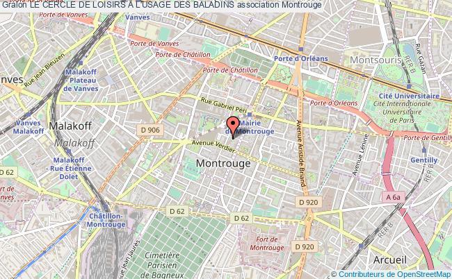 plan association Le Cercle De Loisirs A L'usage Des Baladins Montrouge