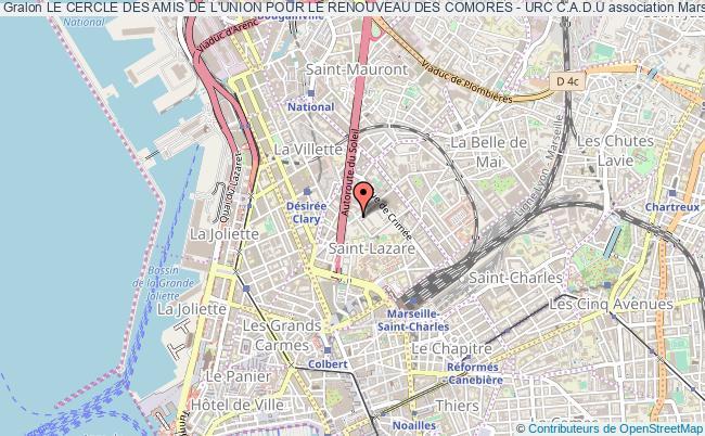 plan association Le Cercle Des Amis De L'union Pour Le Renouveau Des Comores - Urc C.a.d.u Marseille