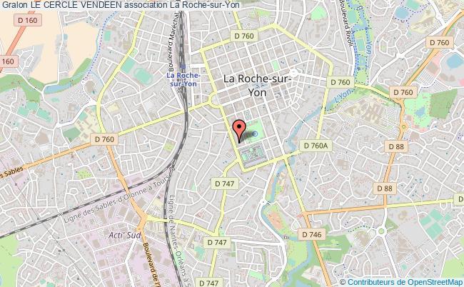plan association Le Cercle Vendeen La    Roche-sur-Yon