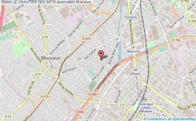 plan association Le Chantier Des Arts