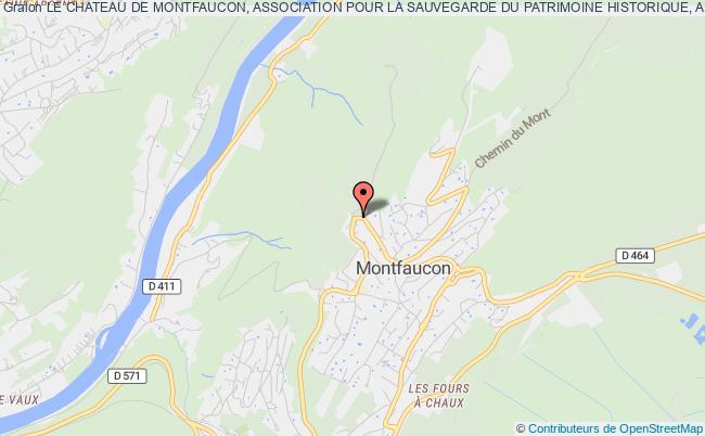 plan association Le Chateau De Montfaucon, Association Pour La Sauvegarde Du Patrimoine Historique, Archeologique Et Paysager De Montfaucon