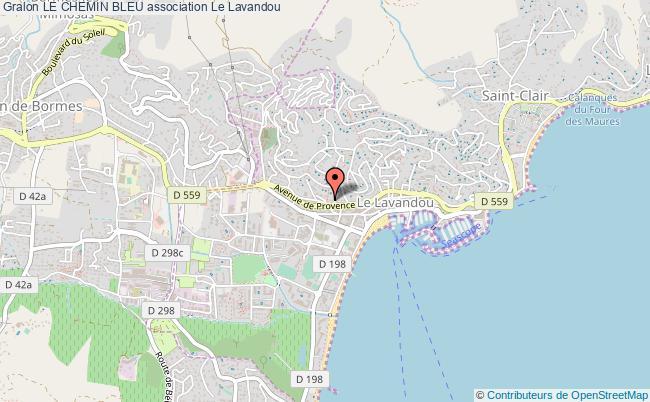 plan association Le Chemin Bleu Le Lavandou