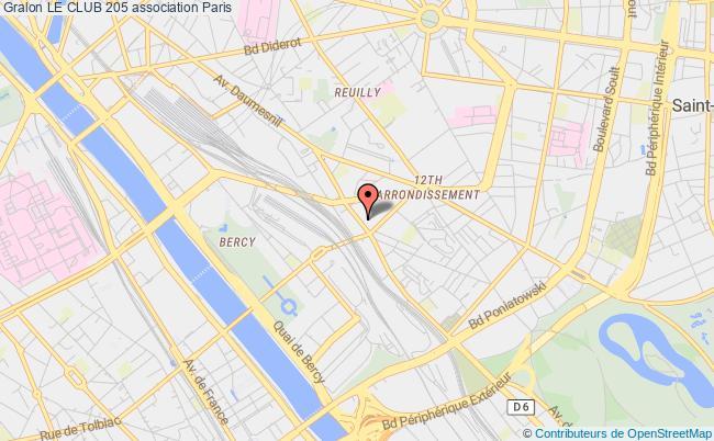 plan association Le Club 205 Paris