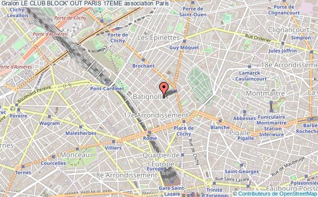 plan association Le Club Block' Out Paris 17Ème