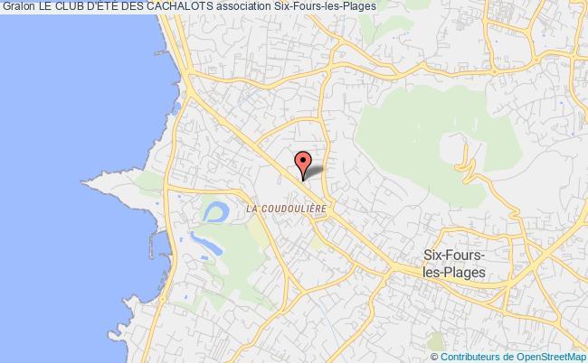 plan association Le Club D'ÉtÉ Des Cachalots
