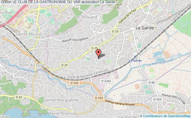 plan association Le Club De La Gastronomie Du Var