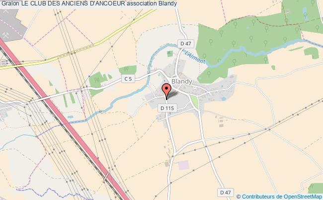 plan association Le Club Des Anciens D'ancoeur Blandy