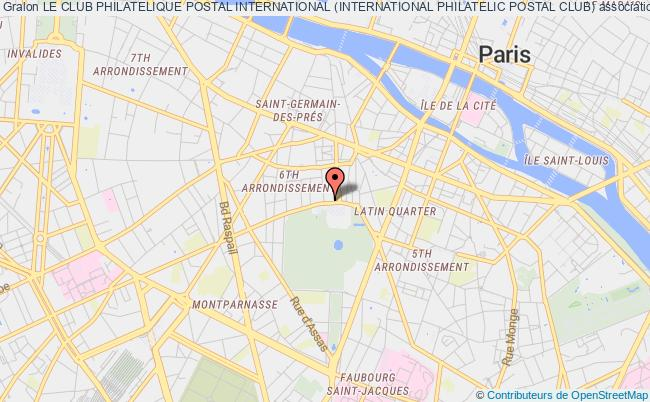 plan association Le Club Philatelique Postal International (international Philatelic Postal Club) Paris