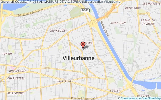 plan association Le Collectif Des Animateurs De Villeurbanne