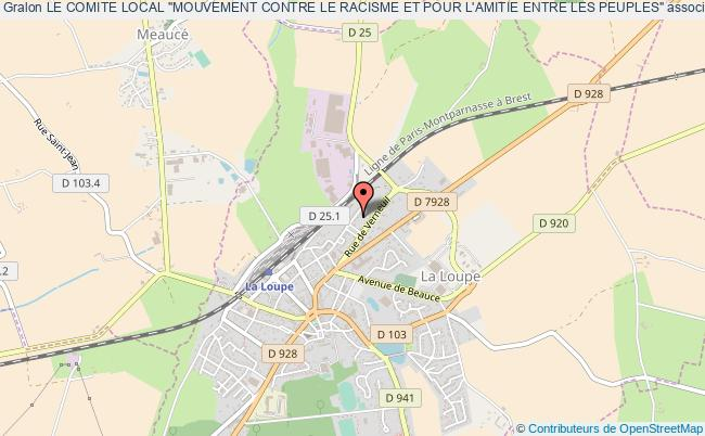 """plan association Le Comite Local """"mouvement Contre Le Racisme Et Pour L'amitie Entre Les Peuples"""""""