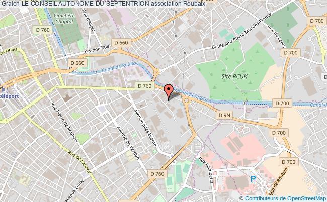 plan association Le Conseil Autonome Du Septentrion Roubaix