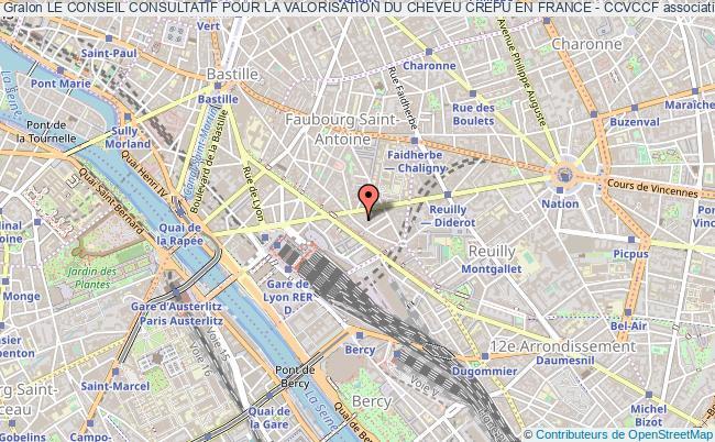 plan association Le Conseil Consultatif Pour La Valorisation Du Cheveu Crepu En France - Ccvccf Paris