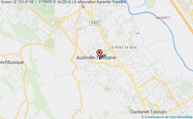 plan association Le Coup De L' Etrier D' Auzeville