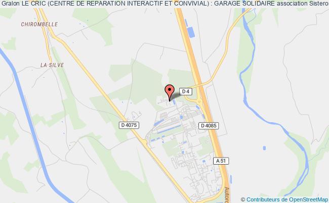 plan association Le Cric (centre De Reparation Interactif Et Convivial) : Garage Solidaire