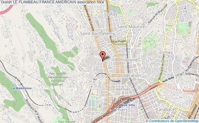 plan association Le Flambeau France Americain Nice