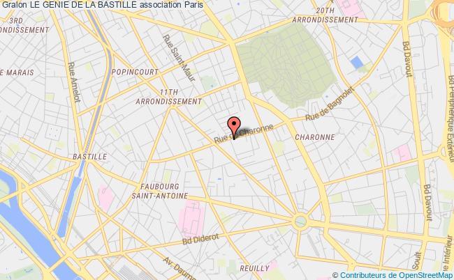 plan association Le Genie De La Bastille
