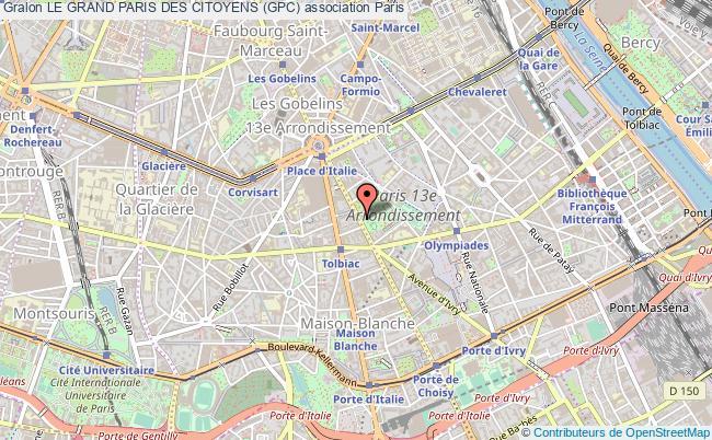 plan association Le Grand Paris Des Citoyens (gpc)