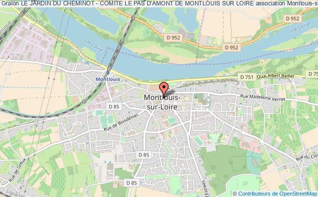 plan association Le Jardin Du Cheminot - Comite Le Pas D'amont De Montlouis Sur Loire