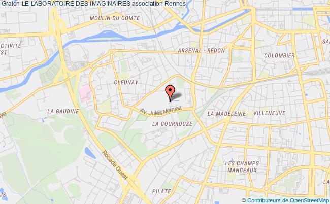 plan association Le Laboratoire Des Imaginaires Rennes
