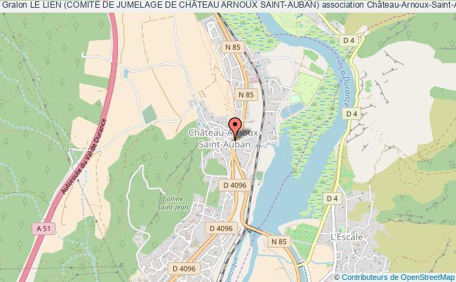 plan association Le Lien (comitÉ De Jumelage De ChÂteau Arnoux Saint-auban)