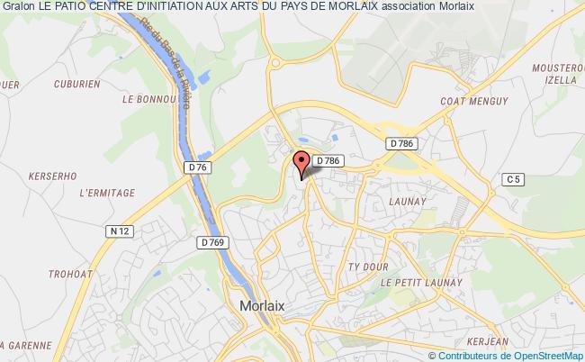 plan association Le Patio Centre D'initiation Aux Arts Du Pays De Morlaix Morlaix