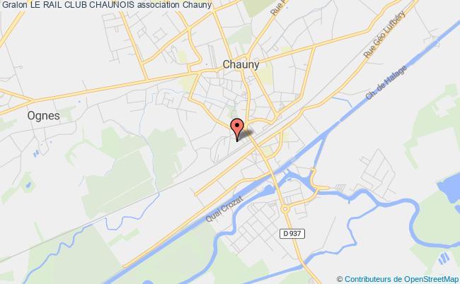 plan association Le Rail Club Chaunois