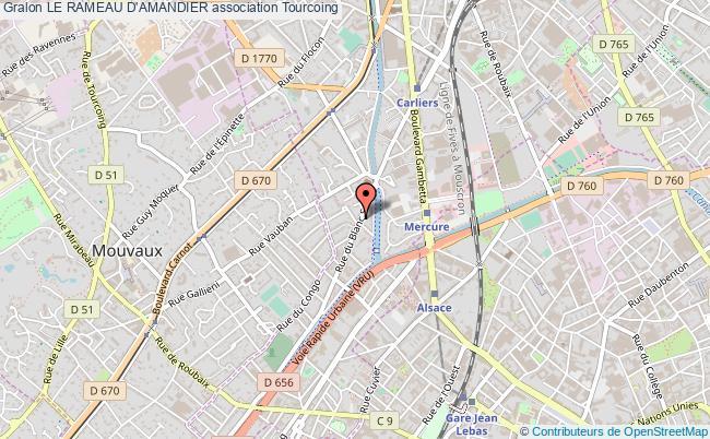 plan association Le Rameau D'amandier Tourcoing