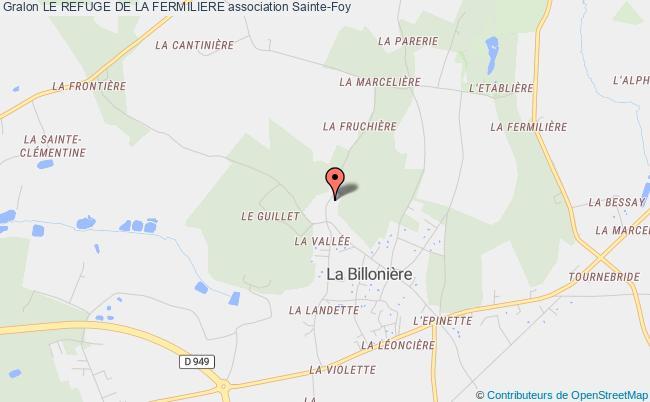plan association Le Refuge De La Fermiliere Sainte-Foy