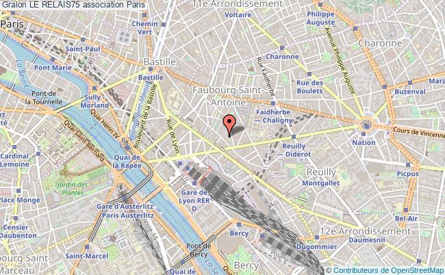 plan association Le Relais75 Paris 12e