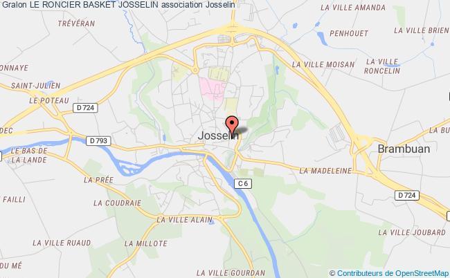 plan association Le Roncier Basket Josselin Josselin