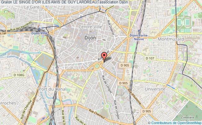 plan association Le Singe D'or (les Amis De Guy Lardreau)