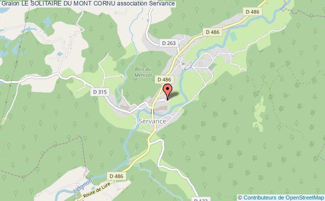 plan association Le Solitaire Du Mont Cornu Servance