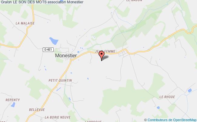 plan association Le Son Des Mots Monestier