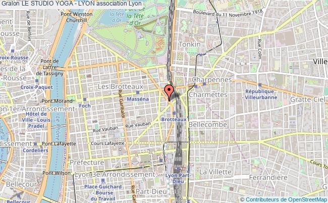 plan association Le Studio Yoga - Lyon