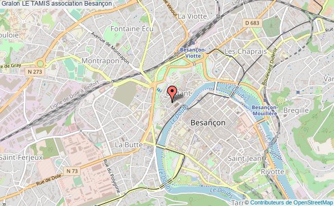 plan association Le Tamis Besançon