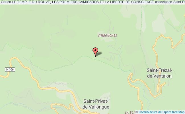 plan association Le Temple Du Rouve, Les Premiers Camisards Et La Liberte De Conscience