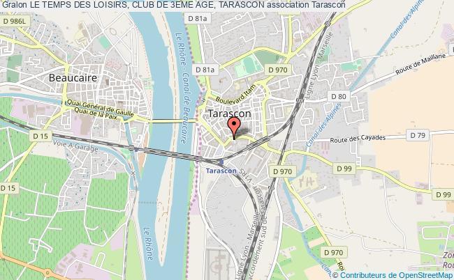 plan association Le Temps Des Loisirs, Club De 3eme Age, Tarascon
