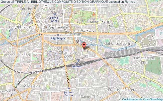 plan association Le Triple A - Bibliotheque Composite D'Édition Graphique Rennes