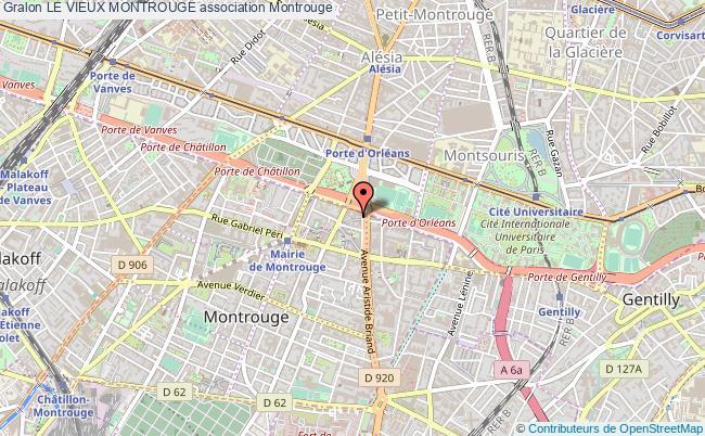 plan association Le Vieux Montrouge Montrouge