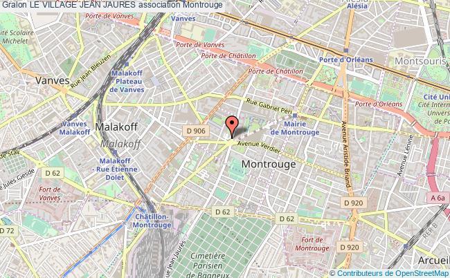 plan association Le Village Jean Jaures Montrouge
