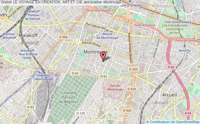 plan association Le Voyage En Creation, Art Et Cie Montrouge