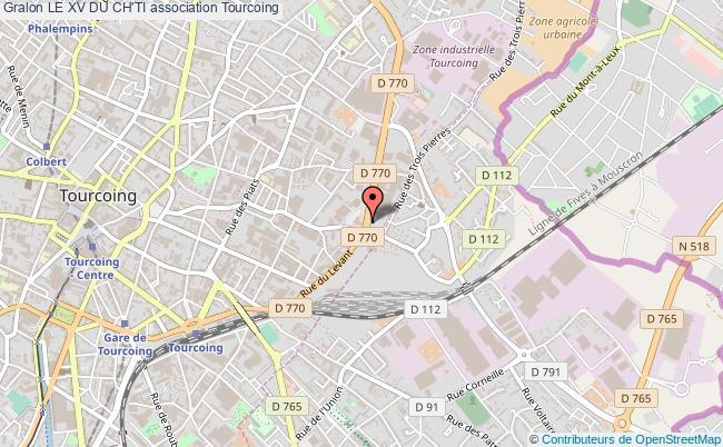 plan association Le Xv Du Ch'ti Tourcoing
