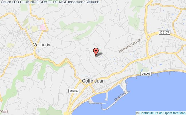 plan association Leo Club Nice Comte De Nice Nice