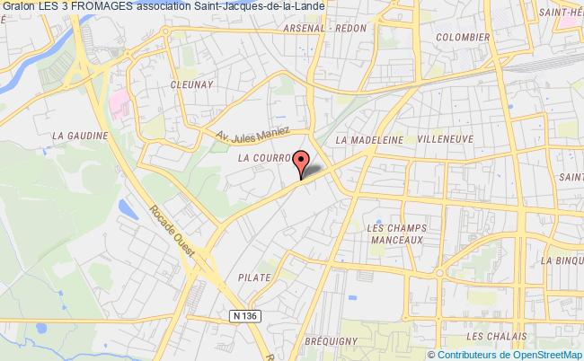plan association Les 3 Fromages Rennes