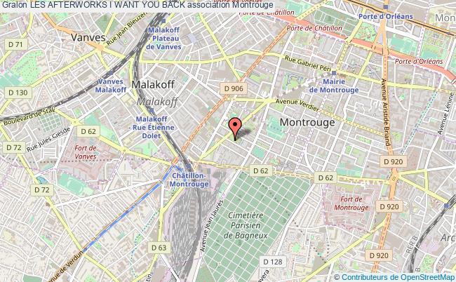 plan association Les Afterworks I Want You Back Montrouge