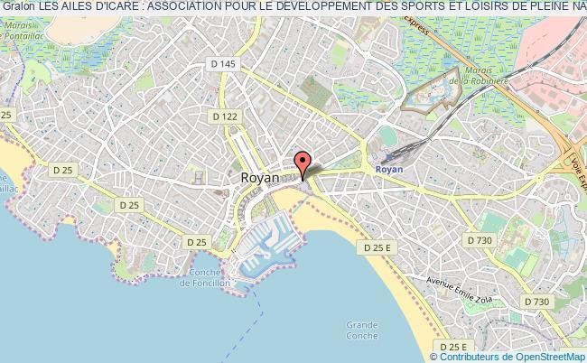 plan association Les Ailes D'icare : Association Pour Le Developpement Des Sports Et Loisirs De Pleine Nature Royan