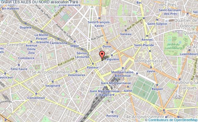 plan association Les Ailes Du Nord Paris