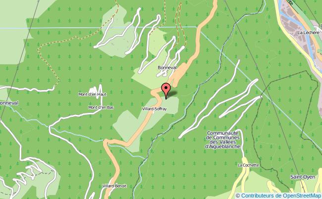 plan association Les Aines De La Vallee De L'eau Rousse Bonneval