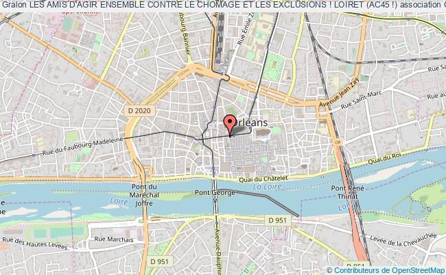 plan association Les Amis D'agir Ensemble Contre Le Chomage Et Les Exclusions ! Loiret (ac45 !)