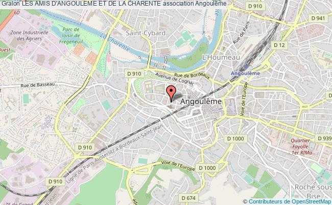 plan association Les Amis D'angouleme Et De La Charente